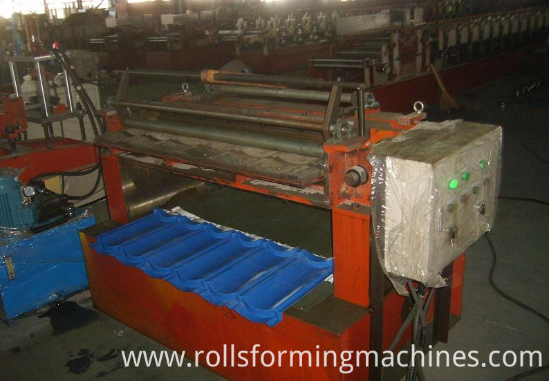 Lace Shearing Machine for Stone Covered Metal Roofing Machine